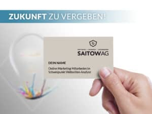 SAITOW AG Online Marketing Mitarbeiter