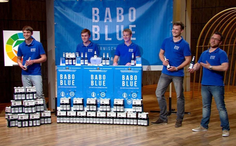 BABO blue das blaue Bier bei DHDL