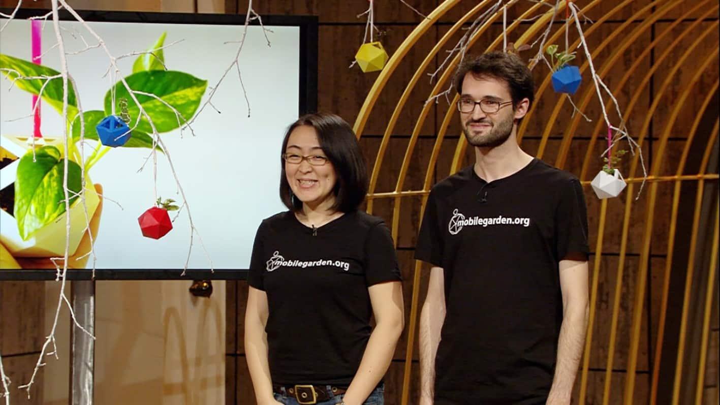 Akiko und Christian mit Mobile Garden