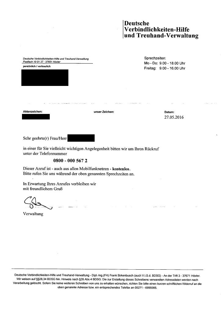 Helveg Institut Deutsche Verbindlichkeiten Hilfe und Treuhand Verwaltung