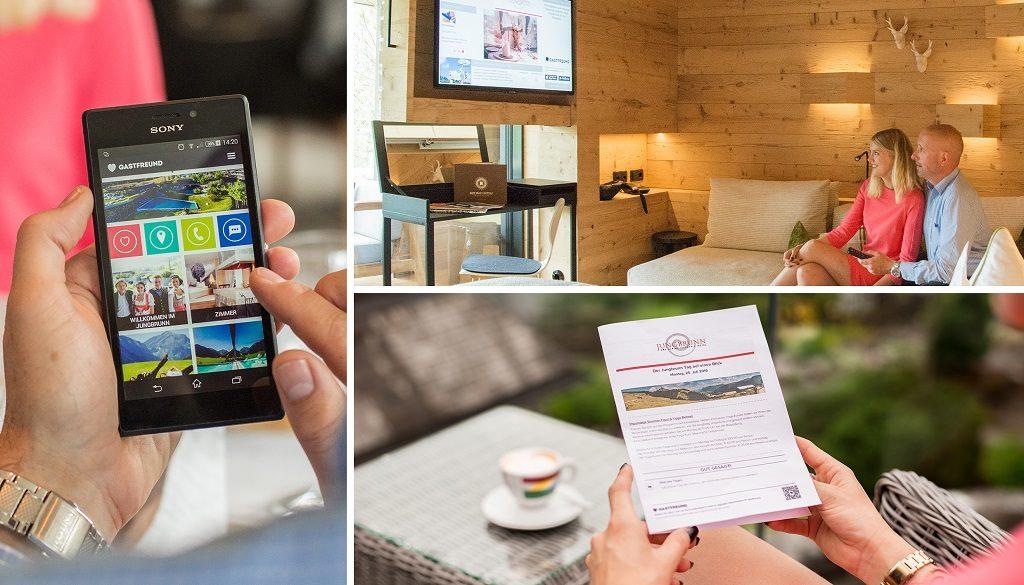 Digitale Gästemappe, Hotelzeitung, Infoscreen-System ©Gastfreund GmbH