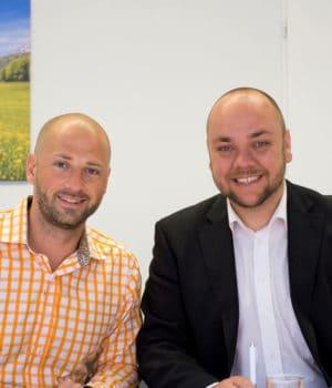 Geschäftsführer Marc Münster und Dominik Haßelkuss