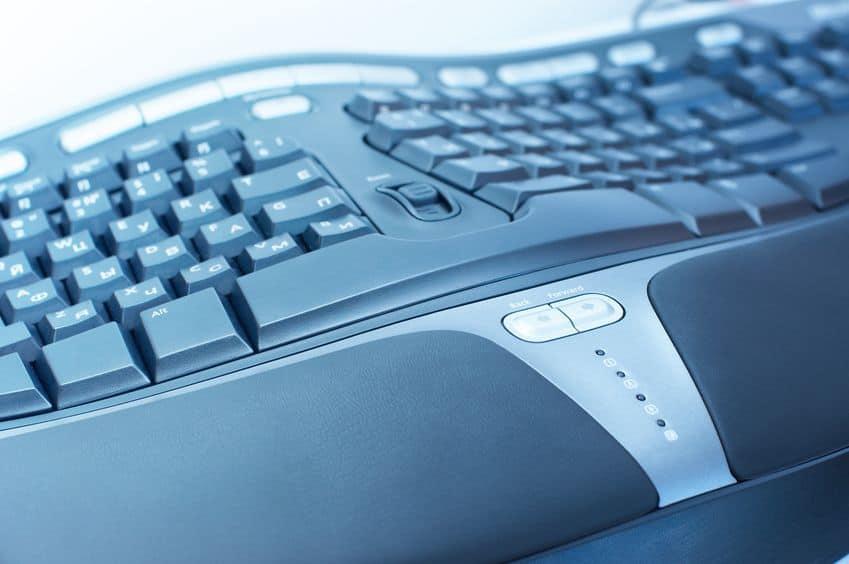 ergonomische Computertastatur