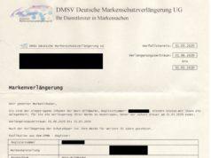 Angebot der DMSV Deutsche Markenschutzverlängerung UG